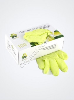 Перчатки САЛАТОВЫЕ нитриловые «Klever», 50 пар