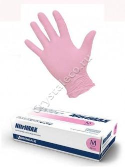 Перчатки РОЗОВЫЕ нитриловые «NitriMAX», 50 пар