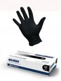 Перчатки ЧЁРНЫЕ нитриловые «NitriMAX», 50 пар