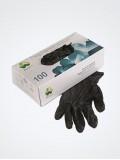 Перчатки ЧЁРНЫЕ нитриловые «Klever», 50 пар