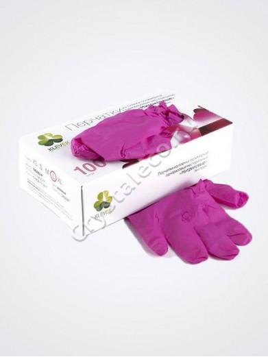 Перчатки РОЗОВЫЕ нитриловые «Klever», 50 пар